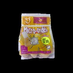 Pomme de terre Agata micro-onde, De consommation, Calibre 35/45mm, catégorie 1, France, sachet 500g