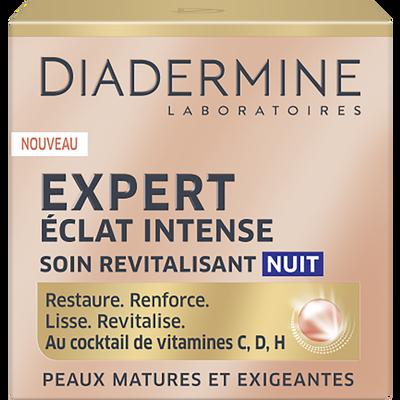 Soin nuit éclat intense peaux matures et exigeantes expert DIADERMINE,pot de 50ml