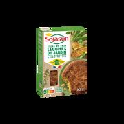 Sojasun Steak Soja Légumes Du Jardin Sojasun, X2 Soit 200g