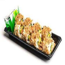 CRUNCHY SAUMON, 8 pièces de crunchy saumon , sauce soja, gingembre et wasabi