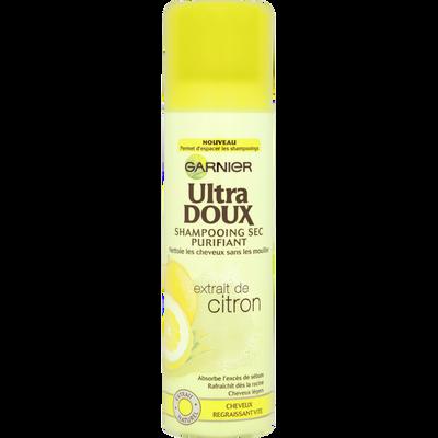 Shampooing sec purifiant au citron pour cheveux regraissants vite ULTRA DOUX, 150ml