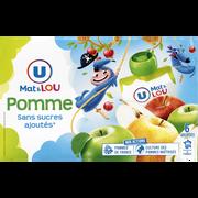 Lou Gourdes À La Pomme Sans Sucre Ajouté U Mat & Lou, 6x90g