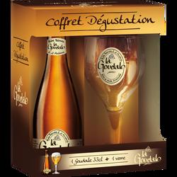 Bière blonde LA GOUDALE 7°2 bouteille 33cl coffret + 1 verre