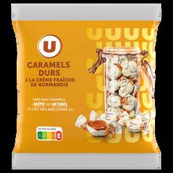 Caramels durs à la crème U, sachet de 175G