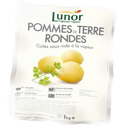 Pomme de terre rondes cuites, LUNOR, sous vide 1kg