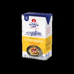 Crème anglaise UHT ALSACE LAIT, brique de 1l