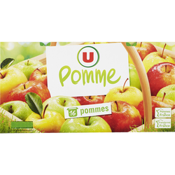 Dessert de fruits aux pommes allégée en sucre U 16x100g