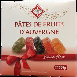 Pâte de fruits d'Auvergne Festive MOINET VICHY, boite 500g