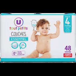 Couches essentiel T4 7/18kg  U Tout Petits, x48