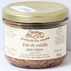 Foie de volaille aux cèpes, Produits du causse, 180g