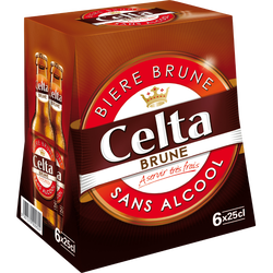 Bière brune sans alcool CELTA, 6x25cl