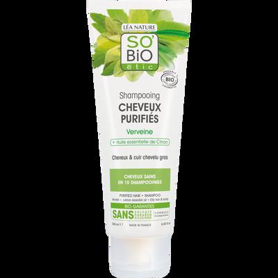 Shampooing pour cheveux purifiés verveine à l'huile de citron Bio LEA NATURE, tube de 250ml