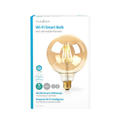 Ampoule led NEDIS intelligente wi-fi à filament E27 5W-125mm 500lm