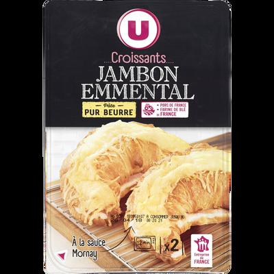 Croissant jambon et emmental sauce Mornay U, 2x300g