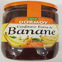 Confiture extra de banane (90% de fruits) DORMOY,pot de 850 g