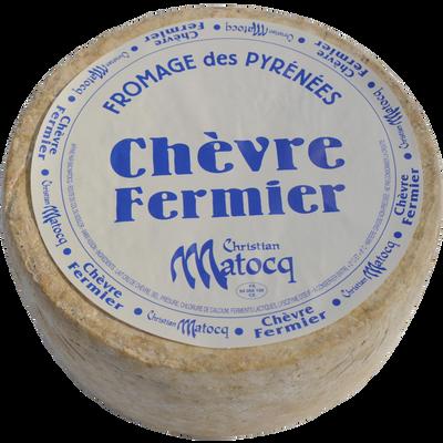 Fromage de chèvre fermier au lait cru et entier à pâte pressée non cuite 33%MG MATOCQ