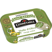Connetable Sardine Sans Arêtes À L'huile D'olive Connetable, Boîte De 1/5, 140g