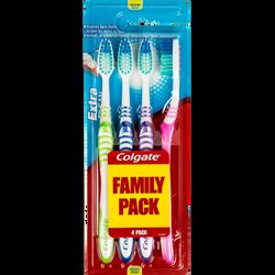 Brosses à dents médium Extra Clean COLGATE, x4