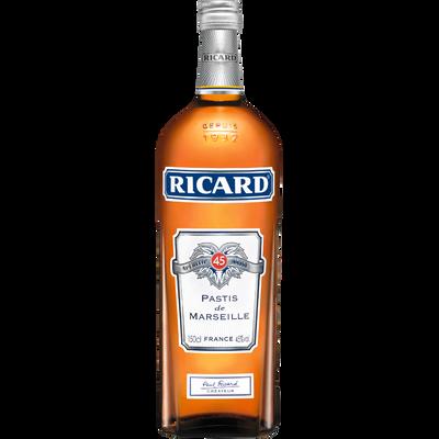 Pastis RICARD, 45°, bouteille de 1,5l