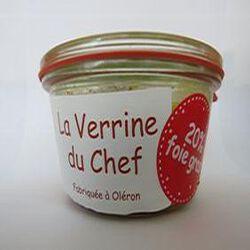 La verrine du chef avec 20% de foie gras, Fabriquée à Oléron, 180gr, bocal, les Conserves Dupuy