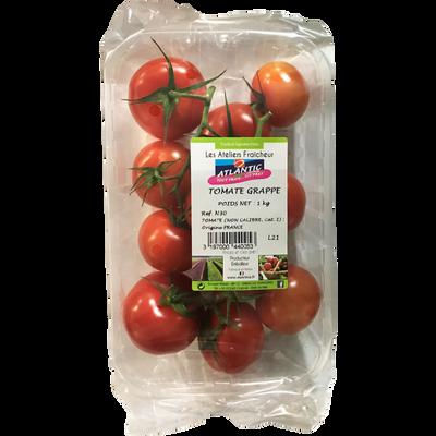 Tomate ronde en grappe, segment Les grappes, catégorie 1, France, barquette, 1kg