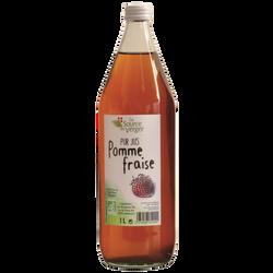 Jus de pomme fraise bio LA SOURCE DU VERGER, bouteille 1l