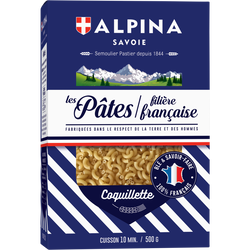 Coquillette filière française ALPINA SAVOIE, paquet de 500g
