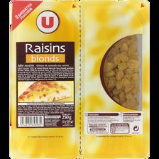 Raisin Golden, U, calibre 200/225, barquette sécable 250g