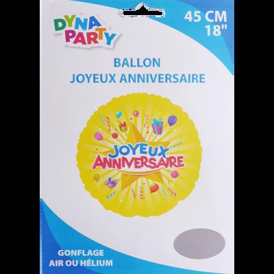 Ballon Joyeux Anniversaire, 45cm