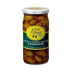Olives cassées à la Provençale LE BRIN D'OLIVIER, 240g