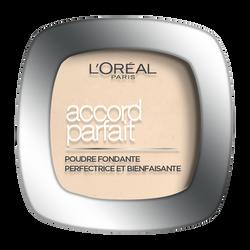 Fond de teint poudre accord parfait beige doré D3 nu L'Oréal