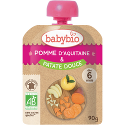 Gourde pomme d'Aquitaine & patate douce BABYBIO, 90g