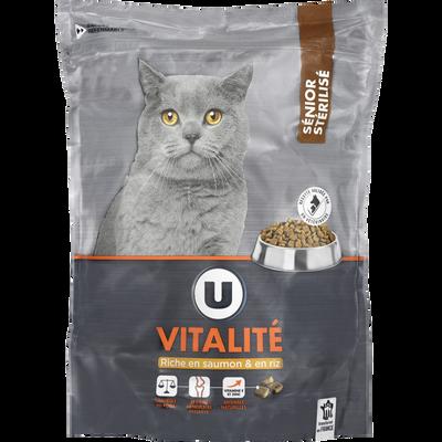 Croquettes prémium pour chat vitalité saumon riz U 1,5kg