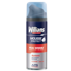 Mousse à raser peaux sensibles WILLIAMS, 200ml