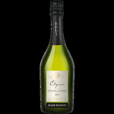 Crémant de Limoux élégance marque Jean Babou, bouteille de 75cl