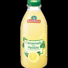 Citronnade menthe réfrigérée ANDROS, bouteille de 1l