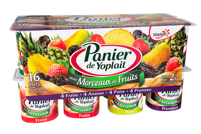 YAF Multi Ananas/Poire/Fraise/