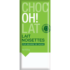 Chocolat ménage lait aux éclats de noisettes, 4x100g