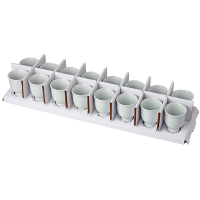 Coquetier en porcelaine blanche, 4,8x4,8x6,8cm