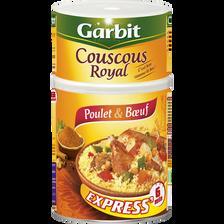 Couscous royal poulet et boeuf GARBIT, boîte 3/2, 980g