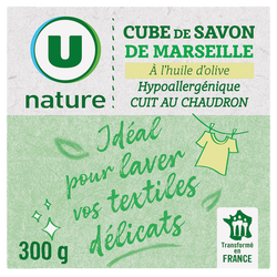 Cube de savon de Marseille olive U NATURE étui 300g