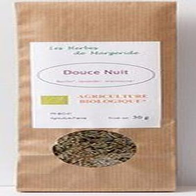 Les herbes en Margeride, Douce nuit (basilic, lavande, mariolaine), Bio 30g