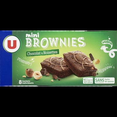 Mini brownie noisette et pépites de chocolat U, 240g