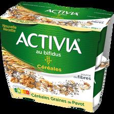 Nestlé Spécialité Laitière Sucrée Céréales Graines De Pavot Activia, 4x120g