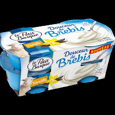 Spécialité laitière au lait de brebis sucrée à la vanille LE PETIT BASQUE, 4x100g