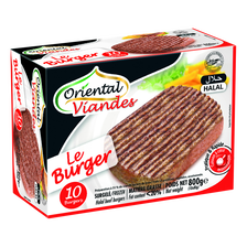 Le burger Halal 20%mg ORIENTAL VIANDES, 10x80g, 800g