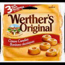 Caramels durs WERTHER'S Original, 3 rouleaux, 150g
