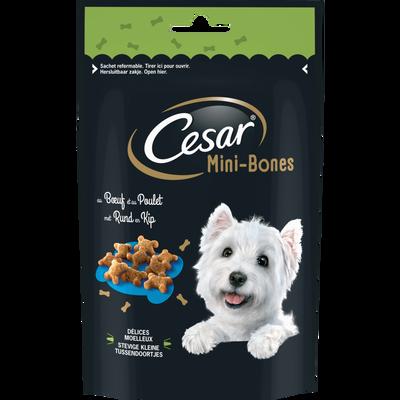 CESAR mini bones petites friandises boeuf/poulet pour chien, 75g