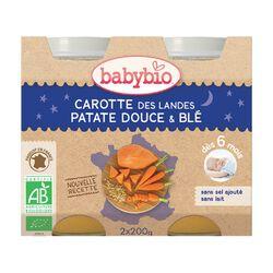 Pot Bonne nuit Carotte Patate BABYBIO dès 6 mois 2x200g