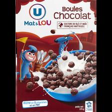 Lou Boules De Céréales Chocolat U Mat Et , 375g